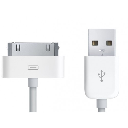 30pin Dock Connector to USB Long Cable Cable 3m White (Approx 3 metres)