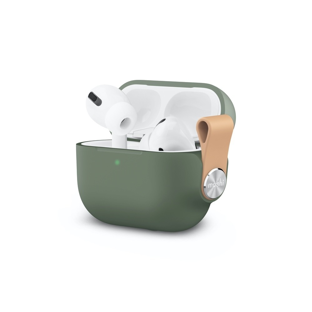 Moshi Pebbo Case for AirPods Pro - Green, 99MO123842