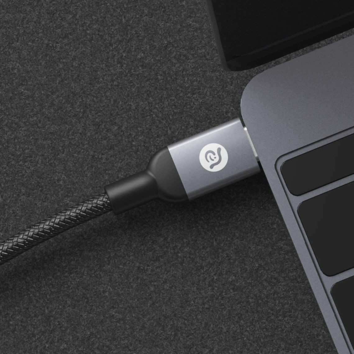 Adam Elements USB Type-C to USB Type-C cable, 2m - Grey, ACBAD200CSBGY