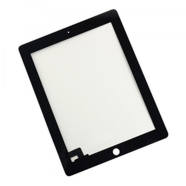 iPad 2 Front Glass/Digitizer Touch Panel Without Adhesive Strips - Black, IF112-000-1