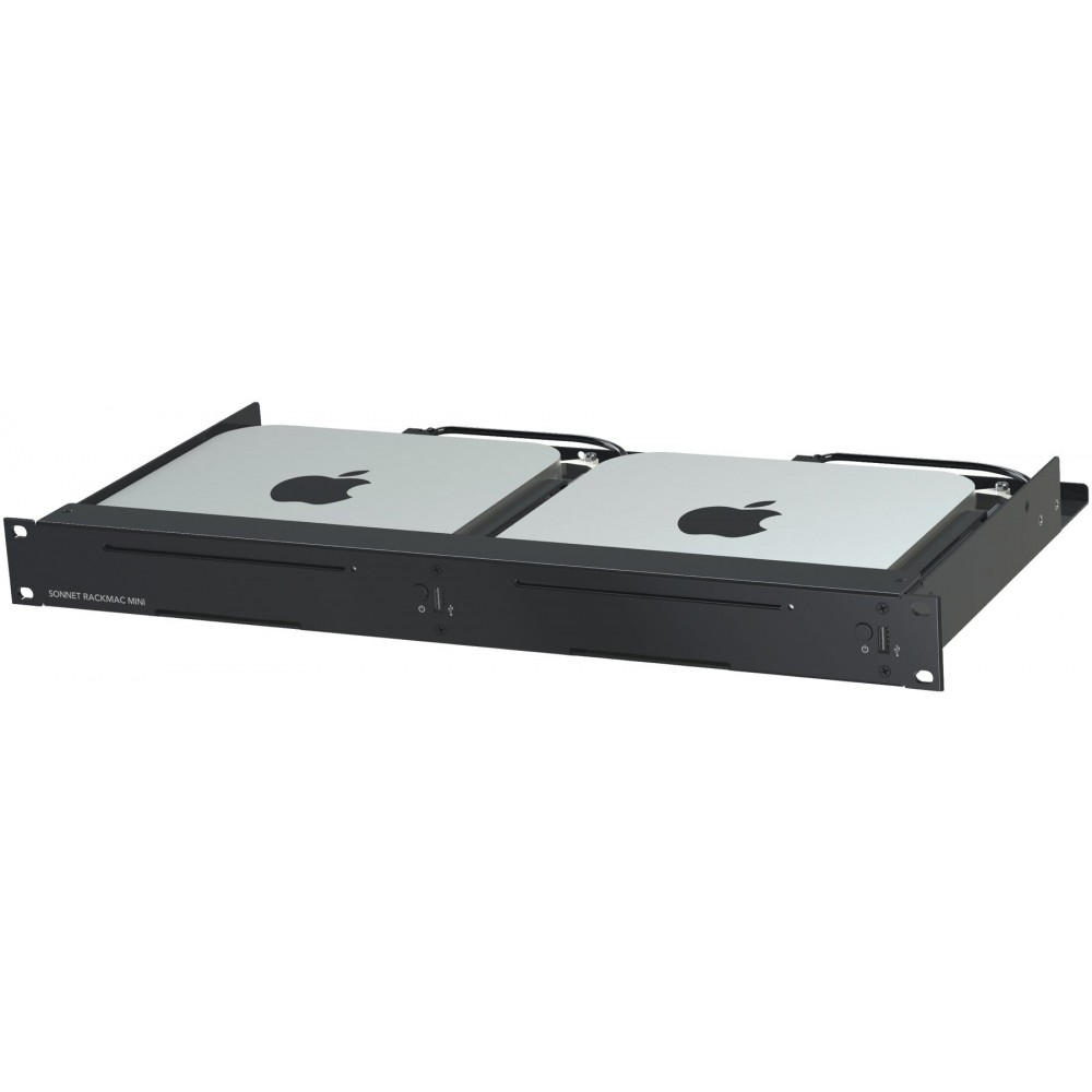 Sonnet Technologies RackMac Mini Version 2 - Server Rack Mount for Mac mini - Compatible with all Mac minis (2010, 2011, 2014 and 2018)., RACK-MIN-2XA
