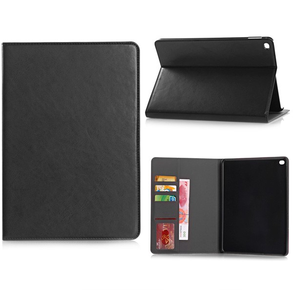 PU Leather Folio Case With Card Slots for iPad Air 2 - Black, IPD6-CARD-67193