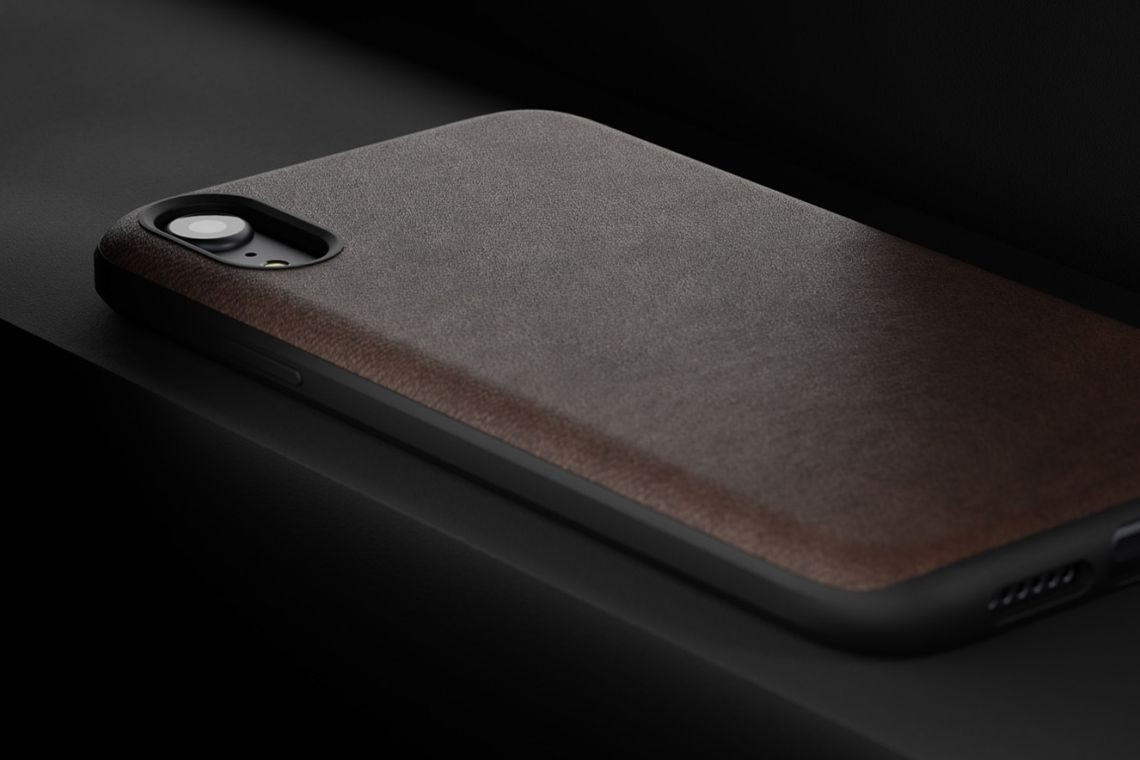 Nomad Horween Leather Rugged Case for iPhone XR - Rustic Brown, NM21QR0000