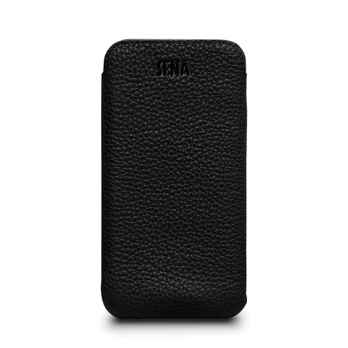 Sena Ultraslim Classic Leather Sleeve Pouch for iPhone XR - Black