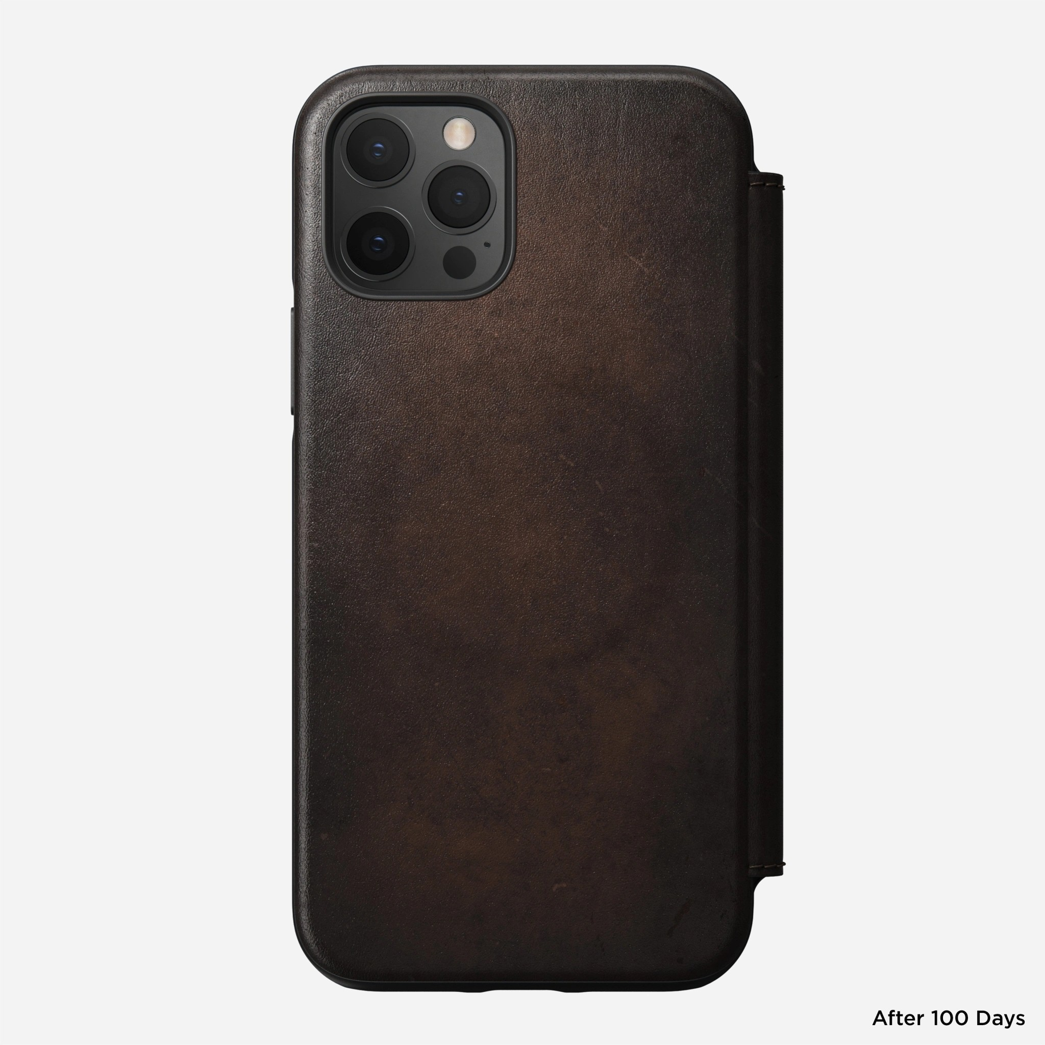 Nomad - MagSafe Leather Folio - iPhone 12/12 Pro - Rustic Brown, NM01963585