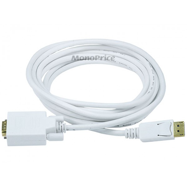 3m 28AWG DisplayPort to VGA Cable - White, DP-VGA-6020