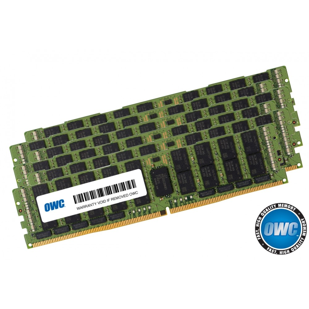 96.0GB (6 x 16GB) PC23400 DDR4 ECC 2933MHz 288-pin RDIMM Memory Upgrade Kit, OWC2933R1M96