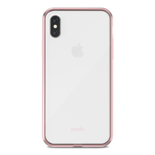 MOSHI Vitros for iPhone X/Xs Clear Protective Case - Orchid Pink