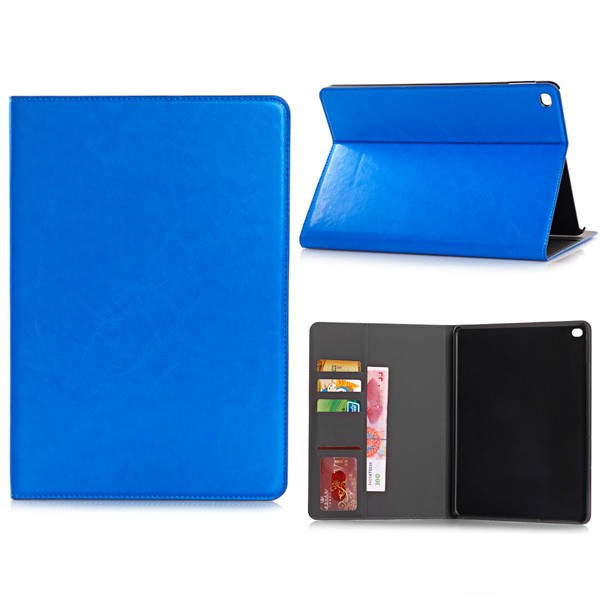 PU Leather Folio Case With Card Slots for iPad Air 2 - Dark Blue, DIS-IPD6-CARD-67195