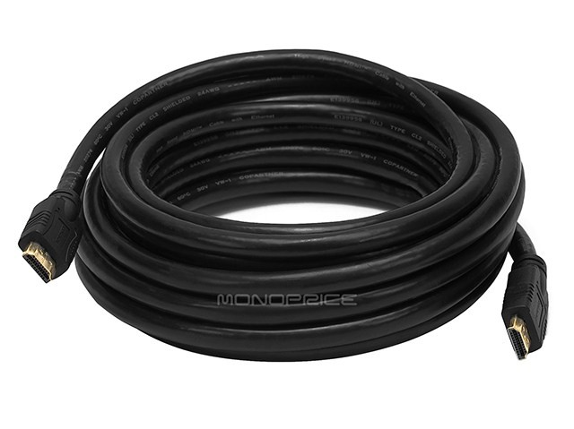 6m 24AWG CL2 Standard HDMI Cable With Ethernet - Black, HDMICAB-ETH-6098