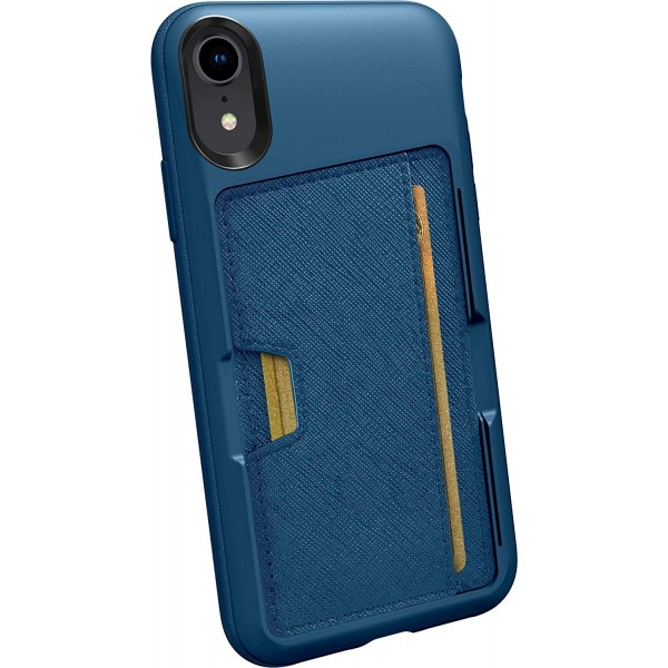 Smartish iPhone XR Wallet Case Vol. 2 - Credit Card Holder (Silk) -Blues on The Green, QXM-TEAL