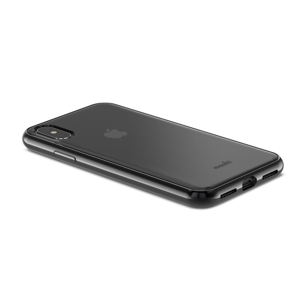 MOSHI Vitros for iPhone X/Xs Clear Protective Case - Raven Black, 99MO103031