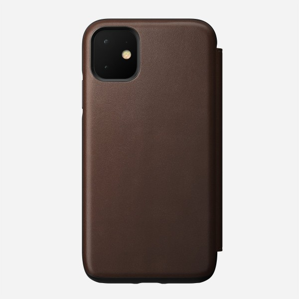 Nomad - Folio - Rugged - iPhone 11 - Brown, NM21XR0000