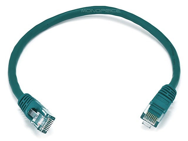 30cm 24AWG Cat6 550MHz UTP Ethernet Bare Copper Network Patch Cable - Green, ETH-2289