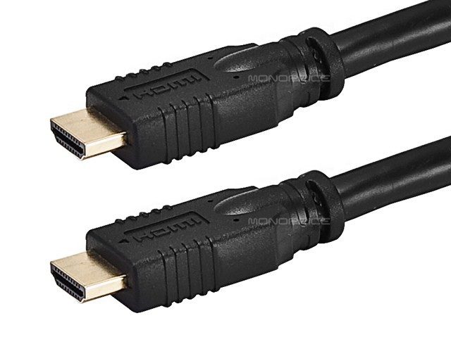 Monoprice 20ft 24AWG CL2 Standard HDMI Cable - Black - 6 metres, HDMICAB-20FT-3962