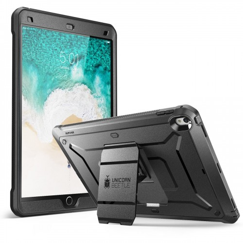 SUPCASE Heavy Duty Unicorn Beetle PRO Series Full-body Rugged Protective Case with Built-in Screen Protector for iPad Pro 10.5 inch - Black/Black