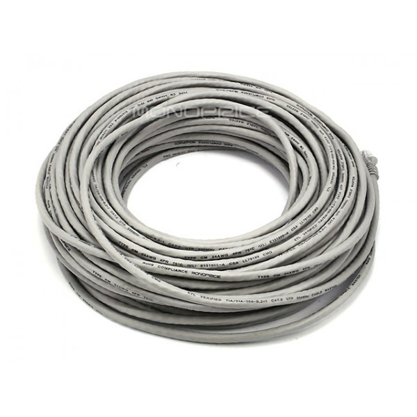 30m 24AWG Cat6 550MHz UTP Ethernet Bare Copper Network Cable - Gray, ETH-2328