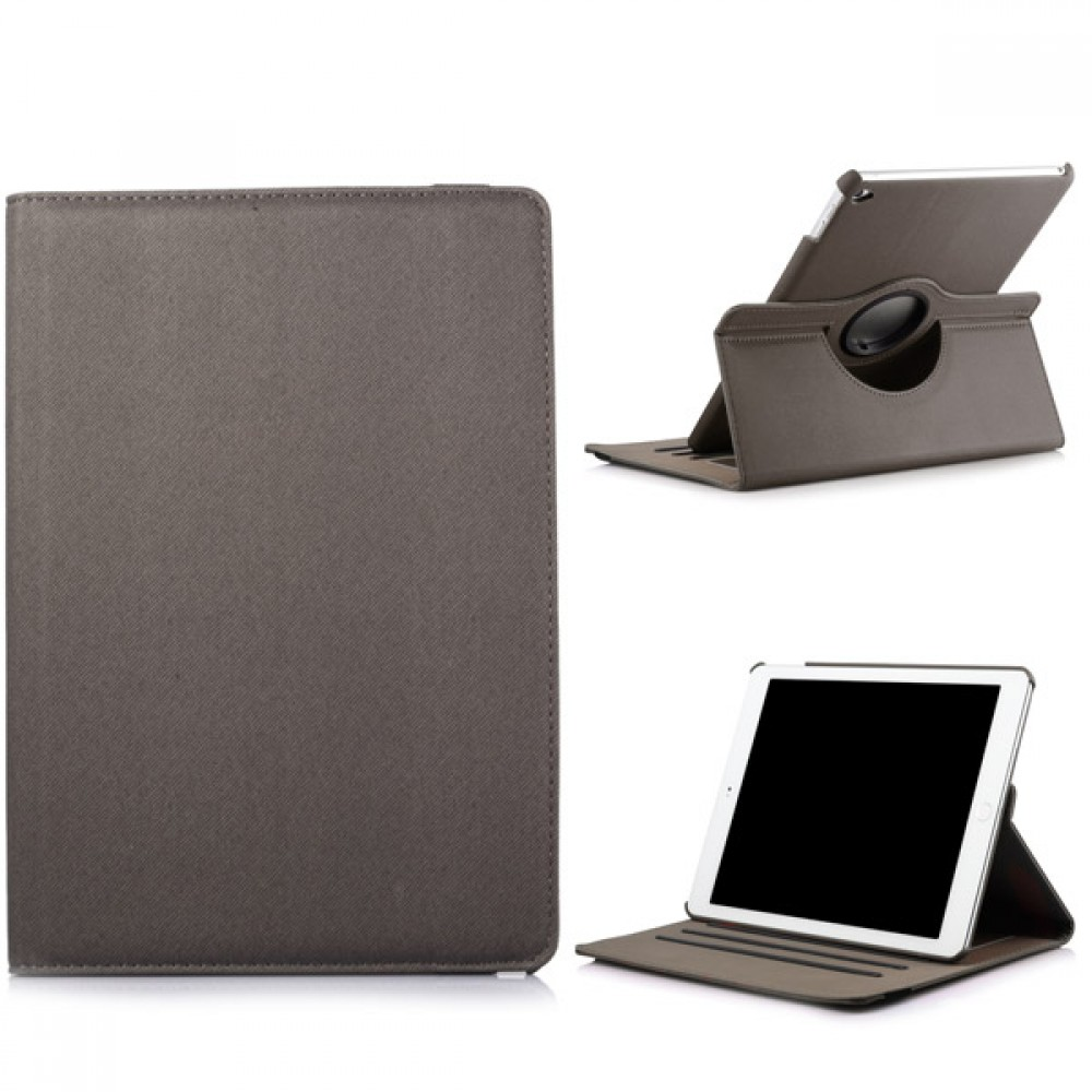 360 Rotating Folio Case with Card Slot for iPad Air 2 - Gray, IPD6-360-66147