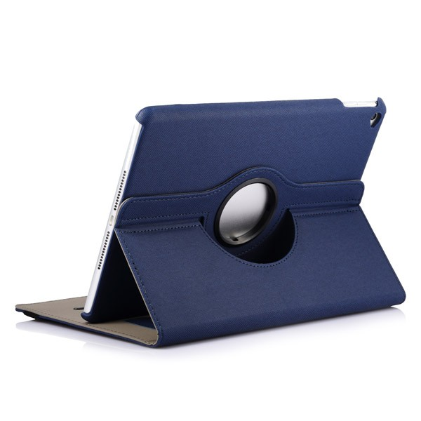 360 Rotating Folio Case with Card Slot for iPad Air 2 - Dark Blue, IPD6-360-66149