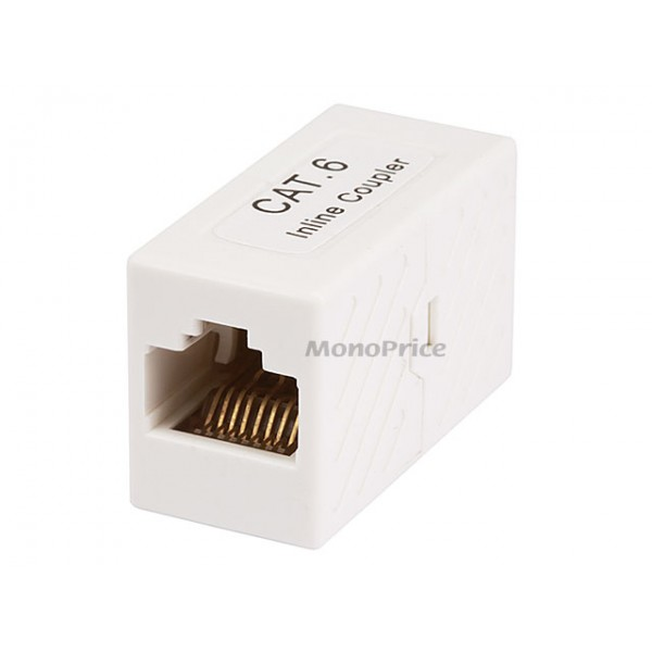Cat6 Inline Coupler - White, COUPL-7286