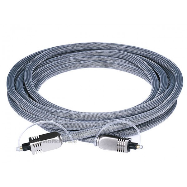 3m Premium Optical Toslink Cable w/ Metal Fancy Connector, TOS-6270