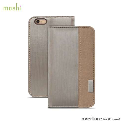 Moshi Overture Wallet Case for iPhone 6/6S - Brushed Titanium