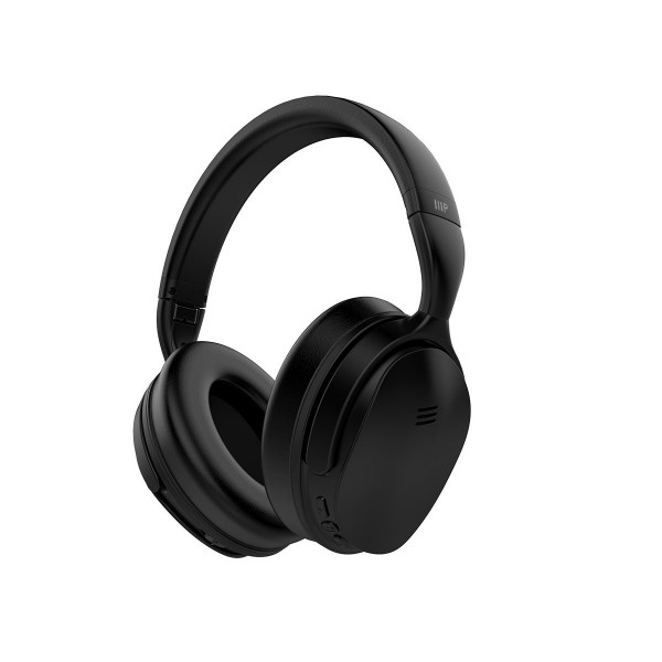 Monoprice BT-300ANC Bluetooth Wireless Over Ear Headphones with Active Noise Cancelling - Black, 33834