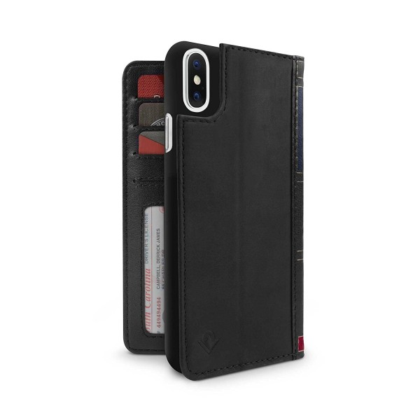 Twelve South BookBook for iPhone X/Xs - Black, 12-1735