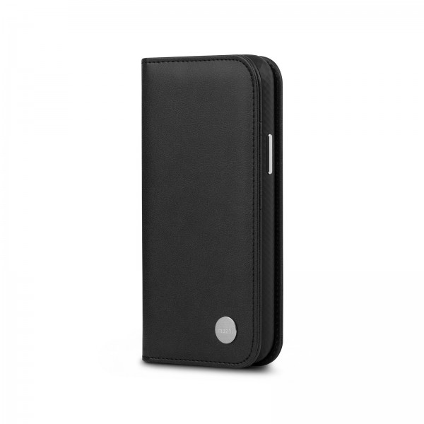 Moshi Overture Case with Detachable Magnetic Wallet for iPhone 12 Mini - Black , 99MO091014