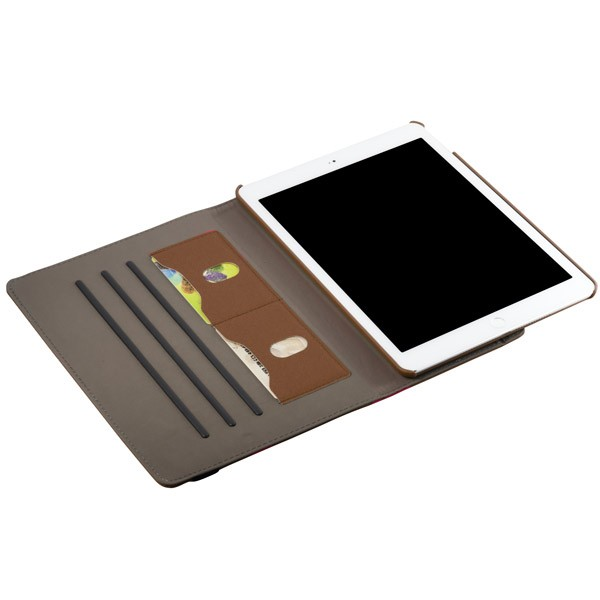 360 Rotating Folio Case with Card Slot for iPad Air 2 - Brown, IPD6-360-66146