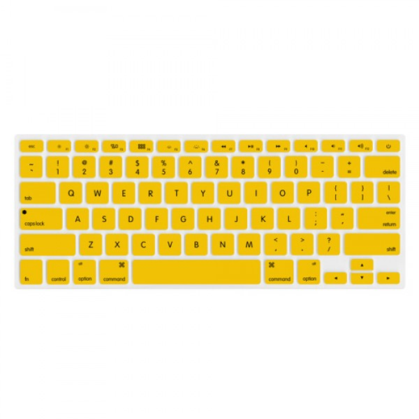 "NewerTech NuGuard Keyboard Cover for 2011-15 MacBook Air 13"", All MacBook Pro Retina - Yellow, NWTNUGKBMBRY"