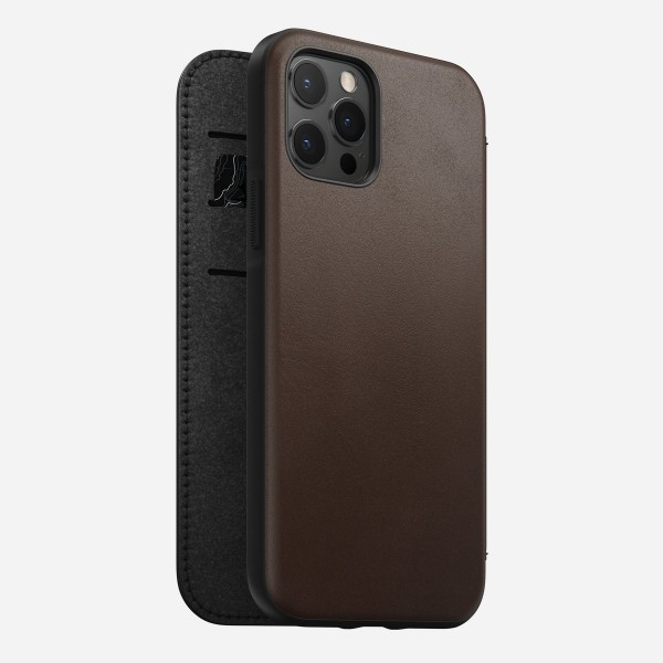 Nomad - Folio - Rugged - iPhone 12/12 Pro - Brown, NM21GR0H00