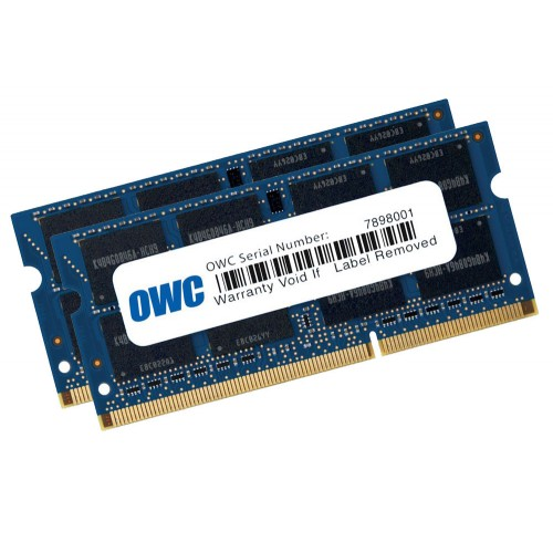 16.0GB (2 x 8.0GB) OWC PC12800 DDR3 1600MHz SO-DIMM 204 Pin RAM