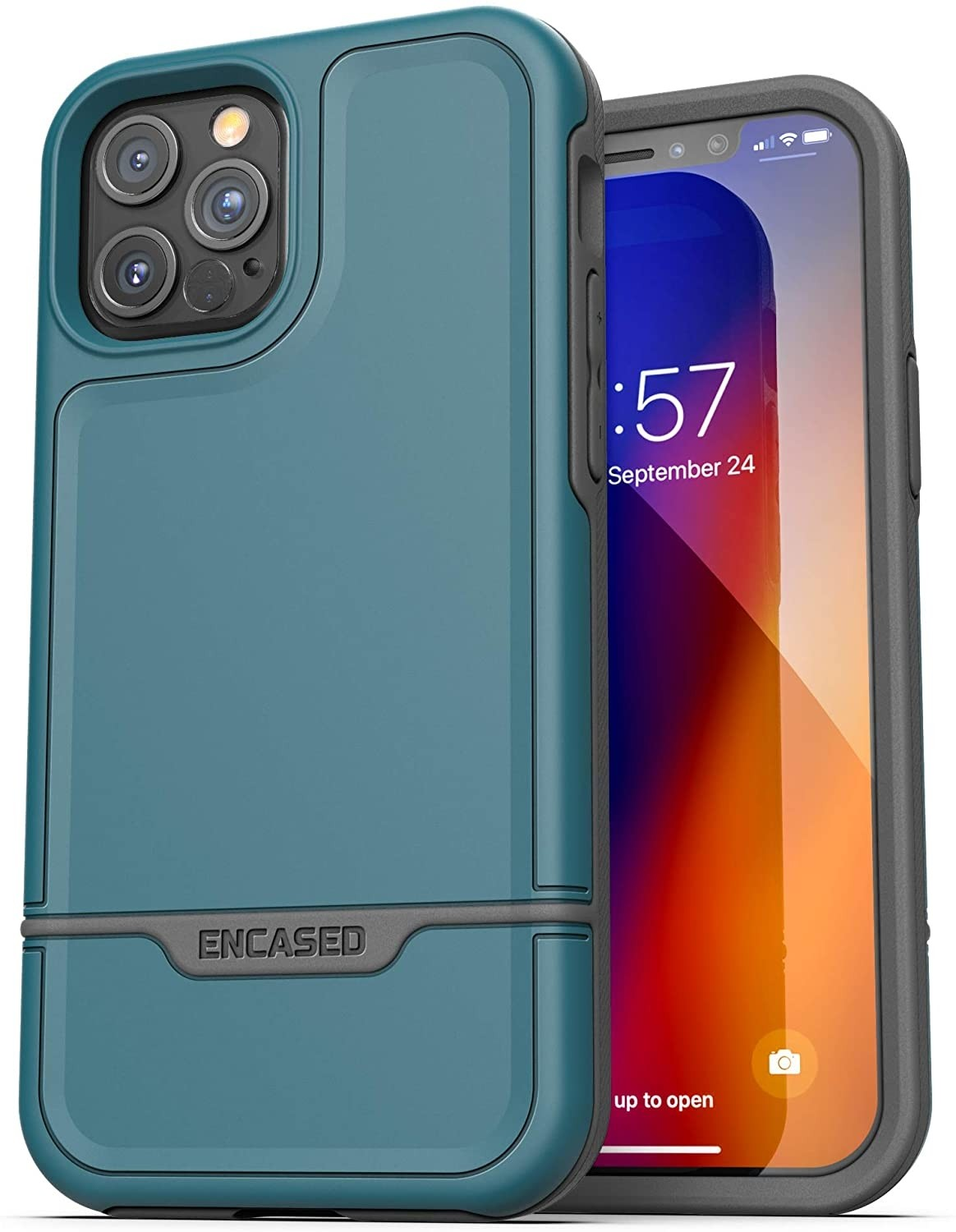 Encased Protective Rebel Series Heavy Duty Case for iPhone 12 Pro - Blue, PRB128AB