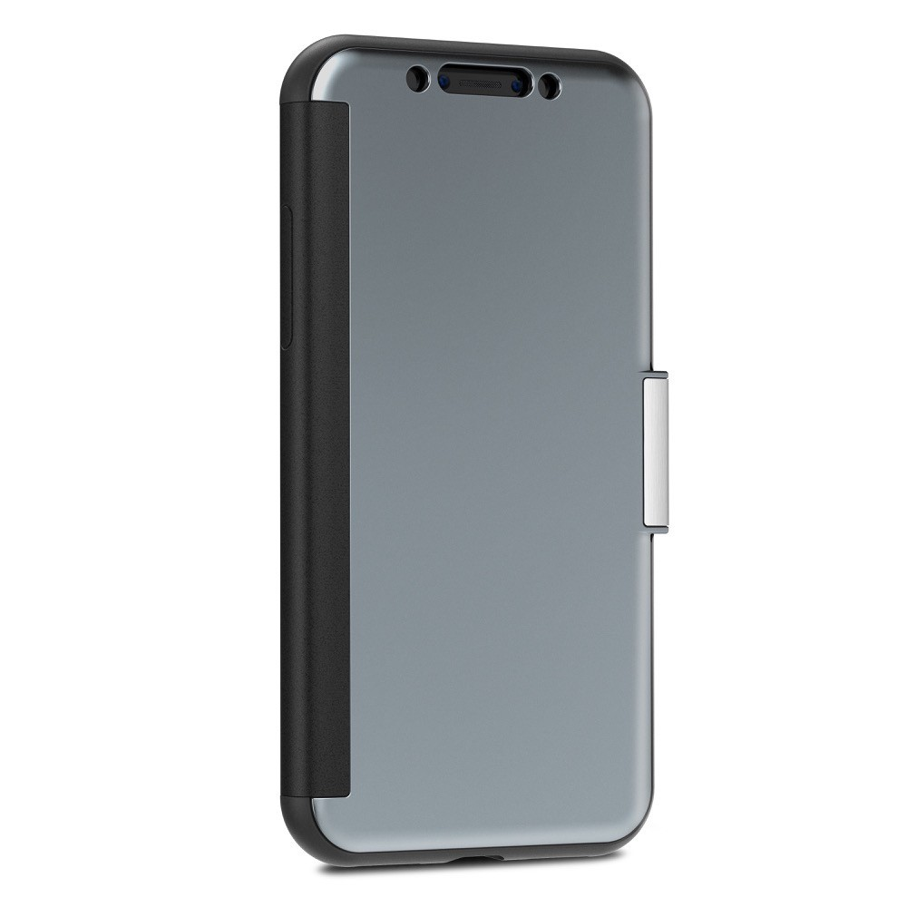 Moshi StealthCover for iPhone X/Xs, Slim Folio Case with Magnetic Clasp - Gunmetal Gray, 99MO102021