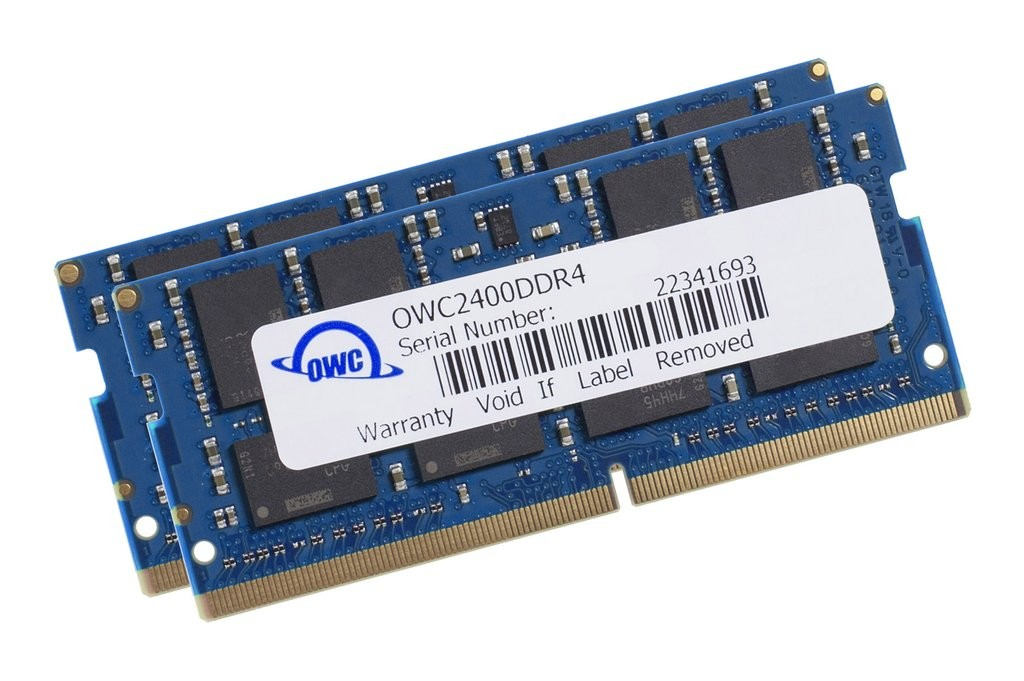 32.0GB (2 x 16GB) 2400MHz DDR4 SO-DIMM PC4-19200 260 Pin CL17 RAM Memory Upgrade, OWC2400DDR4S32P