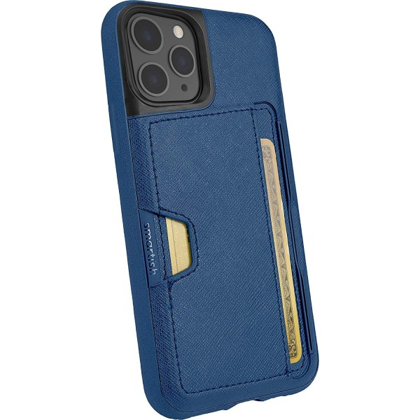 Smartish iPhone 11 Pro Wallet Case Vol. 2 - Credit Card Holder (Silk) - Blues on The Green, Q19-TEAL