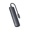 Satechi USB-C Slim Multiport with Ethernet Adapter - Space Grey, ST-UCSMA3M