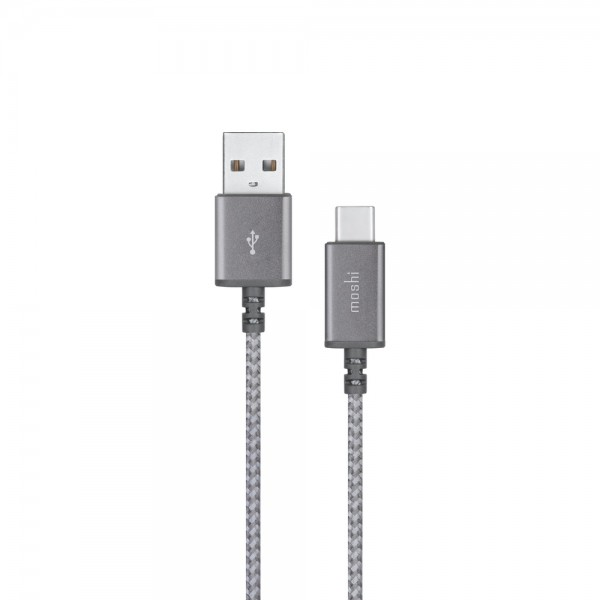 Moshi Integra USB-C to USB-A Charge Cable - Titanium Gray, 99MO084044