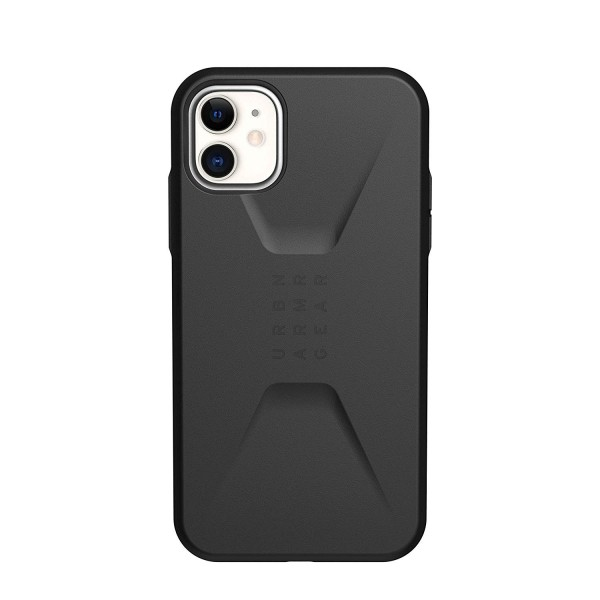 UAG Civilian for iPhone 11 Feather-Light Rugged, Military Drop Tested Case - Black, 11171D114040