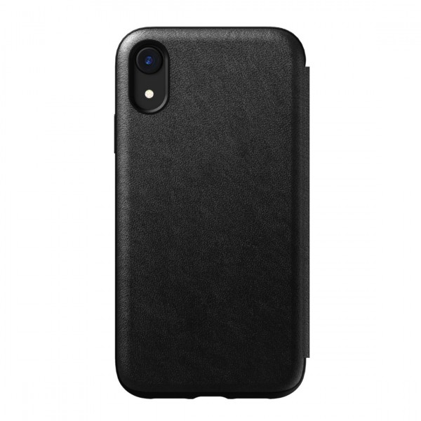 Nomad Horween Leather Rugged Folio for iPhone XR - Black, NM21Q10H00