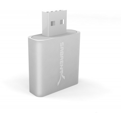 Sabrent Aluminum USB External Stereo Sound Adapter iMic and Recorder for Windows and Mac - Plug and Play - Replaces Griffin iMic