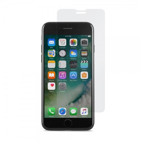 MOSHI AirFoil Glass for iPhone 8/7/SE (Gen 2) - Black, 99MO076011