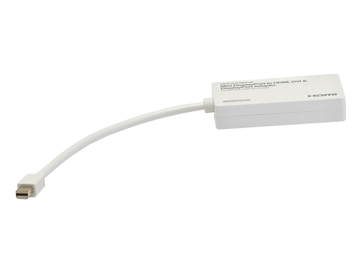Mini DisplayPort / Thunderbolt to HDMI, DVI & DisplayPort Adapter - 3 in 1 , MN-8119