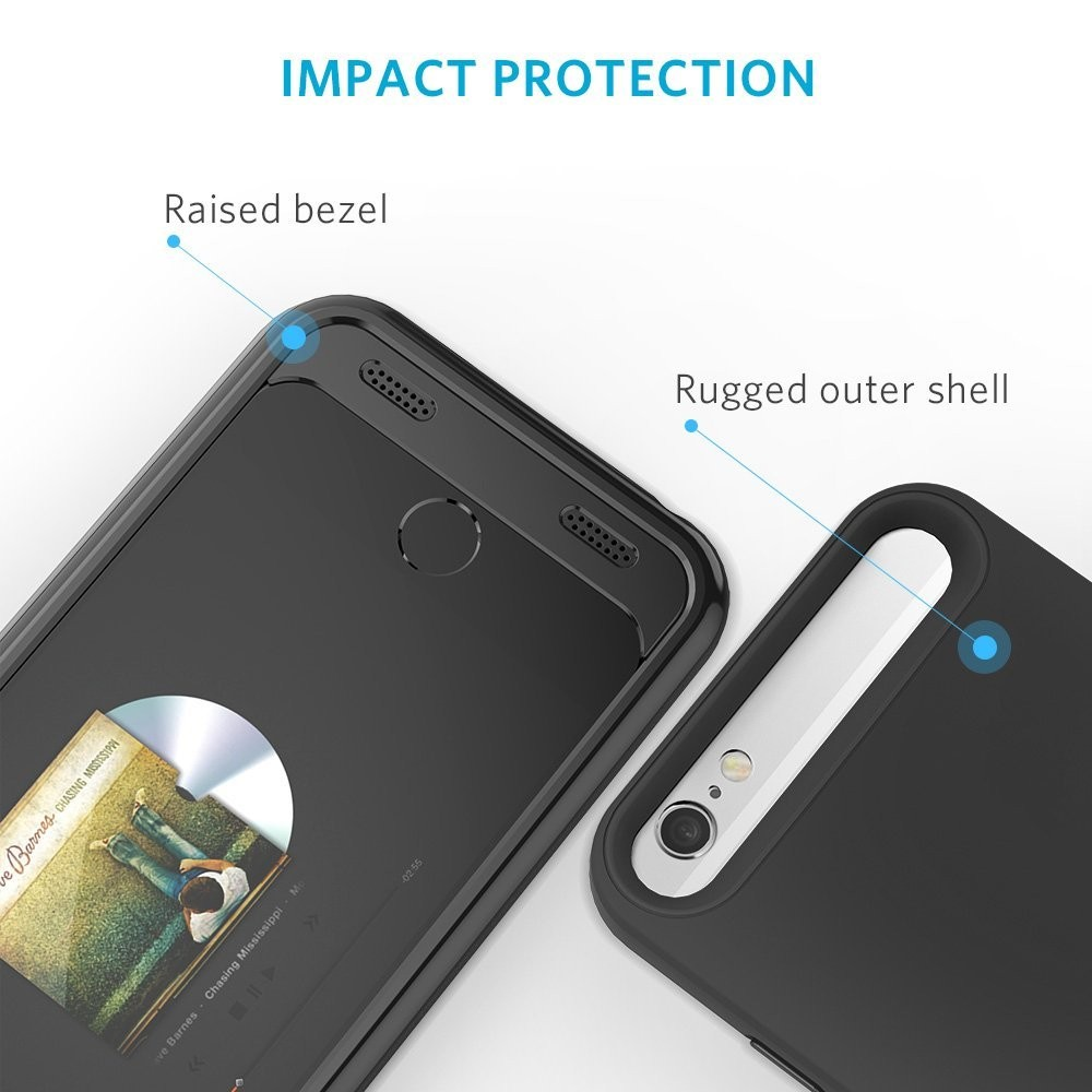 Anker Premium Extended Battery Case for iPhone 6 6s (4.7 inch) with 2850mAh  Capacity  [Apple MFi Certified] - Black, AK-A1405011