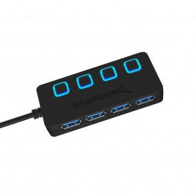 **OPEN BOX** Sabrent Type C to 4-Port USB 3.0 Hub