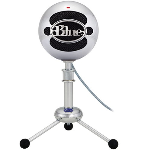 Blue Snowball : USB Condenser Microphone - Brushed Metal