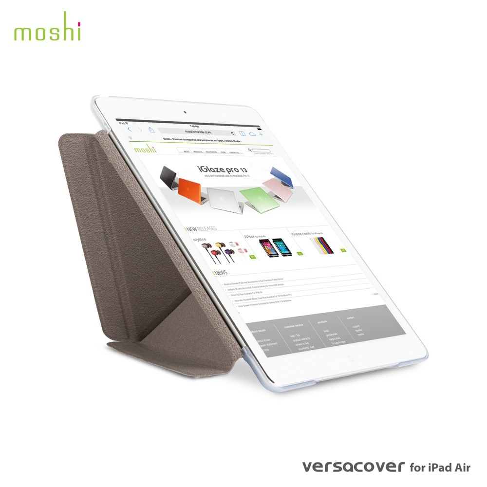 Moshi Versacover for iPad Air - Velvet Grey, DIS-VC-IPD5-GY