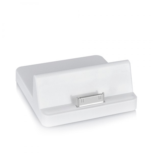 Universal Dock Cradle Charger Stand Holder for iPad and iPad 2 - White