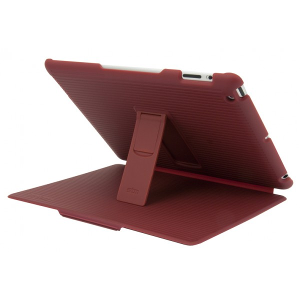 STM Grip Hard Folio-Style Case, Stand and Intelligent Screen Cover for iPad 2/3/4th Gen - Berry, DIS-GRIPIP3BRY